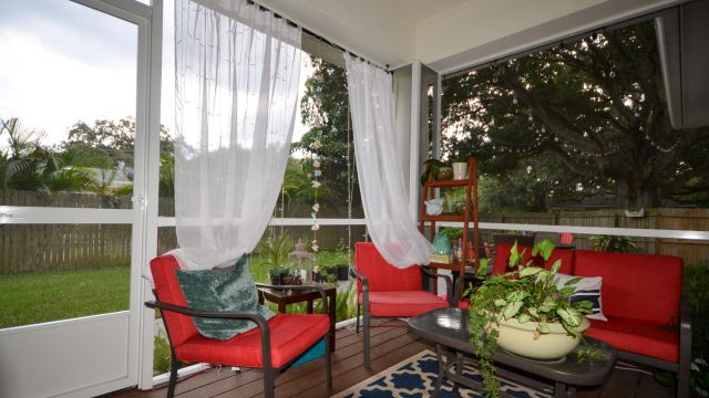 Tampa Custom Home Builder Blake Building screened patio