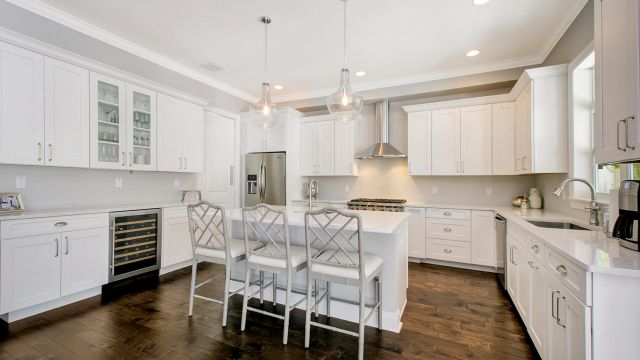Tampa Custom Home Builder Blake Building open kitchen island