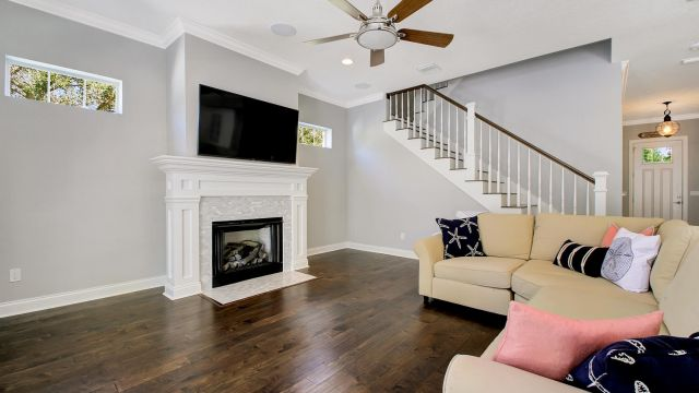 Tampa Custom Home Builder Blake Building fireplace