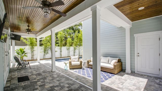 Tampa Custom Home Builder Blake Building rear porch