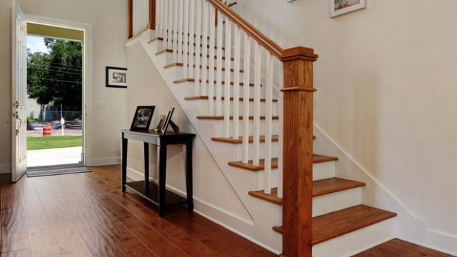 Tampa Custom Home Builder Blake Building staircase entryway