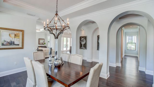 Tampa Custom Home Builder Blake Building formal dining room