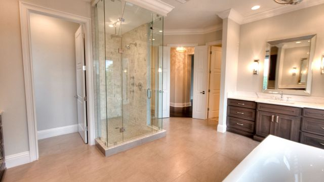 Tampa Custom Home Builder Blake Building spa-like master bathroom